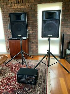 Yamaha PA system (EMX 660 mixer with 2 x S115IV speakers)