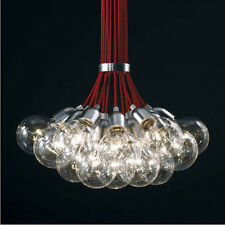 Red Idle Max Sea Urchins Glass Pendant Lamp Chandelier Ceiling Light 19 Lights