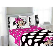 NEW DISNEY MINNIE MOUSE TWIN SHEET SET 3 PIECE FLAT FITTED AND PILLOWCASE