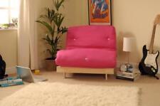 Single 3ft (90cm) Luxury Futon Wooden Frame Sofa Bed Mattress in Cream