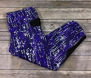Athleta Womens Pebble Be Free Knicker Capri Leggings 163477 Small Purple S12