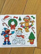 Vintage Sesame Street Elmo Winter Scene Sticker Sheet