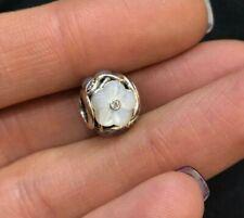 NEW Genuine Pandora Luminous Florals Charm 791894MOP White Flower Mother Pearl