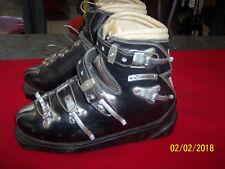Vintage Black Leather Nordica Ski Boots
