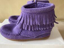 Minnetonka Toddler Girls Fringe Boots In Purple Size 9