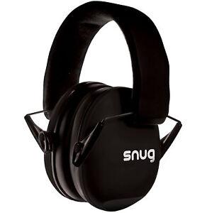 Snug Kids Earmuffs/Hearing Protectors Adjustable Headband Ear Defenders Black