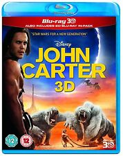 John Carter 3D + 2D Blu-Ray BRAND NEW FREE SHIPPING