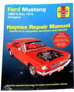 Ford Mustang Haynes Manual 1964 - 1973 1965 1966 1967 1968 1969 1970 1971 1972