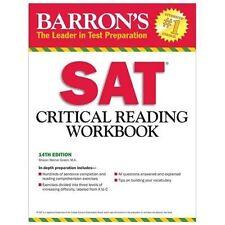 Barron's SAT Critical Reading Workbook, 14th Edition NO WRITING