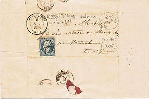lettre petit chiffre 2986 +gros cachet date st antonin 82  indice 7+11 cote 300€
