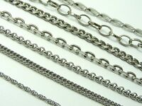 ~Custom Made~ Women STAINLESS STEEL Various Style Link CHAIN NECKLACE 46cm-100cm