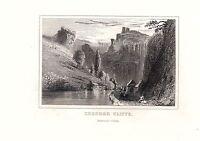 1840 Victoriano Estampado ~ Chedder Cliffs ~ Somersetshire