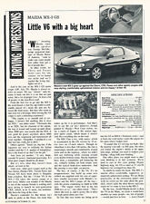 1992 Mazda Mx-3 Mx3 GS -  Classic Car Original Article J30