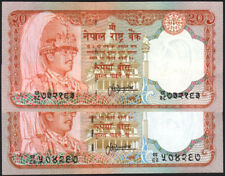 NEPAL Rs 20 SERIAL number SMALL & BIG letter printed 2 Pc, pick 38, sign 13 UNC