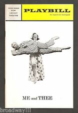 """Durward Kirby """"ME AND THEE"""" Barbara Britton 1966 FLOP Tryout Playbill"""