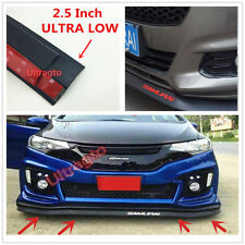 "2.5"" FRONT BUMPER LIP SPLITTER BODY SPOILER VALENCE CHIN TRIM SIDE SKIRT RED2"