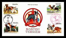 OAS-CNY 630 BOSTON TERRIER 1984 COLLINS HAND PAINTED FREE COMBINED SHIPPING