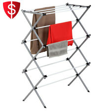 Drying Rack Holder Storage Rustproof Heavy Duty Expandable Sweater Shelf Clothes