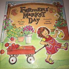 Farmers Market Day Children's Book Hardcover, Shanda Trent 2013 Girl Gift, NEW