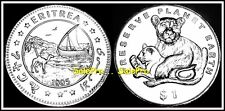 ERITREA 1995 AFRICAN PRESERVE THE EARTH LIONS RARE $1 DOLLAR BU SEALED COIN UNC