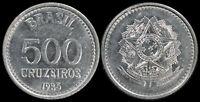 Brésil 500 Cruzeiros. 1985 (Pièce KM#597 Neuf)