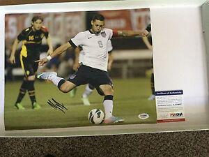 Clint Dempsey Signed Team USA U.S.A 11x14 Photo PSA DNA COA Autographed e