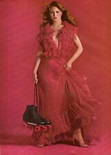 1980 Revlon Cosmetics Makeup KIm Alexis Print Advertisement Ad Vintage VTG 80s