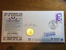 ENVELOPPE OFFICIELLE  1 JOUR D'EMISSSION  1890 CENTENAIRE 1990