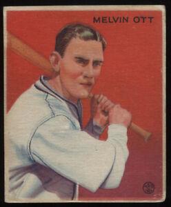 1933 Goudey #207 Mel Melvin Ott the card is small  AC-3