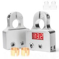 2PACK Digital Voltmeter Car Battery Terminal Connectors 0/4/8 AWG Power Post Kit