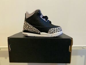 Nike Jordan 3 Retro Black Cement TD (2018)   US 4C   EU 19,5   UK 3,5