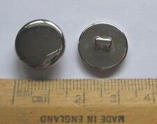 20 Silver metal look Buttons 15mm with shank SECONDS Please read Carefully! SALE