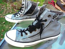 CONVERSE ALL STAR Hi Top Unisex Shoe / Pre-owned / US M 8 / W 10 / Gray Leather