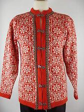 Vtg Nordstrikk Mens Nordic Icelandic Winter Cardigan Jumper Sweater Size Medium