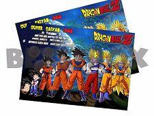 Dragon Ball Z Digital Party Invitation Personalized  Birthday