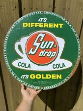 """New listing Vintage 1954 Sun Drop Soda Store Cola Drink Gas Oil 22"""" Tin Tacker RARE Sign"""
