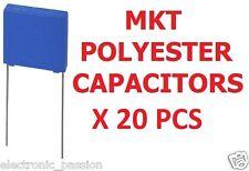 Lot de 20 pcs marketing 220nF 100V polyester s condensateurs de composants électroniques