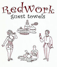 Redwork Guest Towel Vtg. Embroidery Transfer Pattern