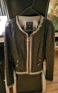 guess size 8 leather look jacket