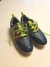 Footjoy Junior Men's Size 6M Blue Green Orange Soft Spike Golf Cleats Shoes