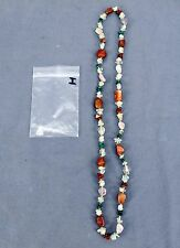 Handmade Natural Gem Stone Chip Necklace 32'' Multi Colored Quarts Lot-I