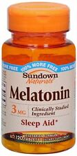 Sundown Melatonin 3 mg Tablets 120 Tablets