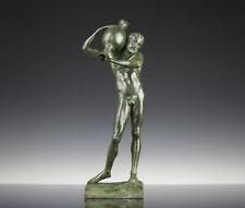 Wunderschöne Bacchus Dionysos Bronze Skultpur um 1880