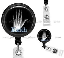 Custom Name Medical X-Ray Tech Work ID Badge Holder Retractable Card Reel