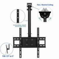 """Celling Roof TV Wall Mount Bracket For 24 27 32 39 47 50 65"""" LED LCD Adjustable"""