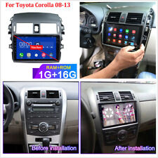 9'' 1080P Touch Screen Stereo Radio Multimedia Player GPS WiFi For Corolla 08-13