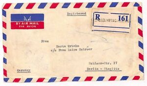 Pakistan Berlin Germany Cover {samwells-covers} 1960 UU164