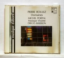 MICHEL PORTAL, MASSON - BOULEZ domaines HARMONIA MUNDI CD NM