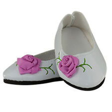"""MangoPeaches 18"""" Doll Rose Shoes – Fits American Girl Dolls"""