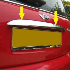 Chrome Rear TAILGATE TRIM COVER for BMW MINI Cooper/S/One R50 boot handle grab